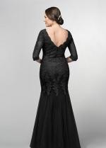 Black Mermaid Bride Mother Formal Dress with Half Sleeves