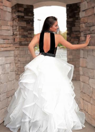 Black Velvet Beaded Prom Dress Layers Horsehair Skirt