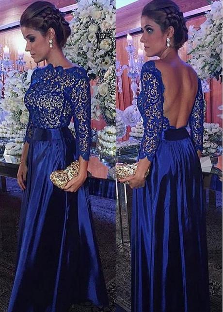 Eye-catching Taffeta & Lace Bateau Neckline Floor-length A-line Evening Dresses
