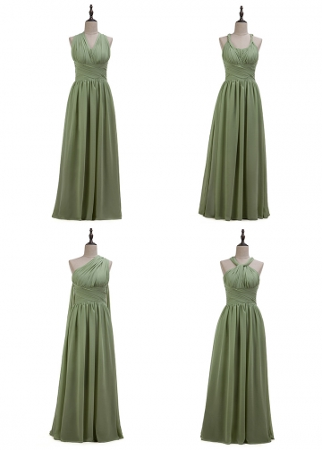 Fashionable Chiffon Convertible A-line Bridesmaid Dress