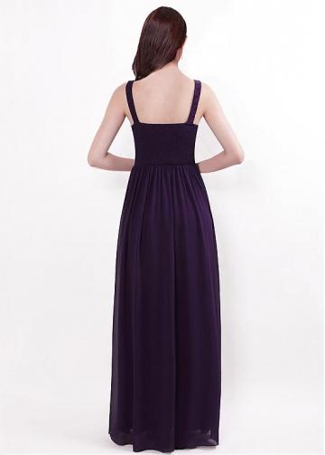 Glamorous V-neck Neckline A-line Bridesmaid Dresses