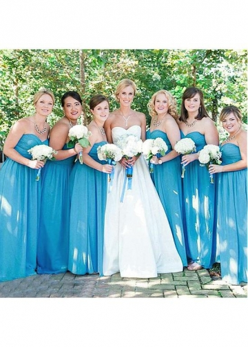 Alluring Chiffon Sweetheart Neckline A-line Bridesmaid Dresses