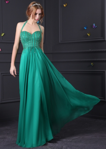 Gorgeous Silk Like Chiffon & Stretch Satin Sweetheart Neckline A-Line Prom Dresses