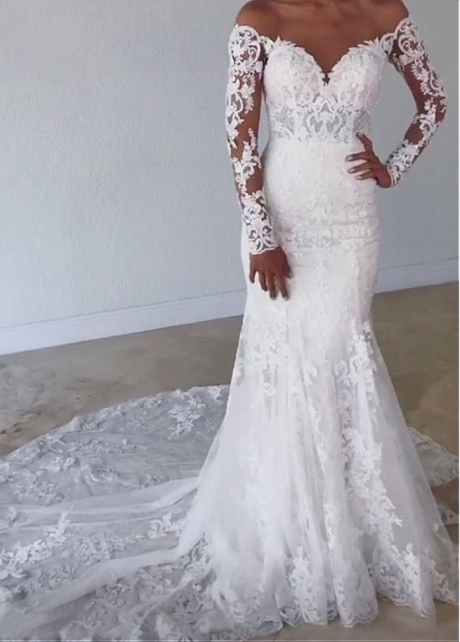 Fabulous Lace Mermaid Wedding Dresses With Sleeves