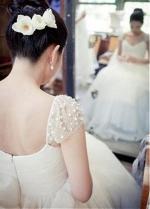 Glamorous Tulle Scoop Neckline A-line Wedding Dress With Beadings & Detachable Belt