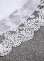 Wonderful Tulle & Organza Spaghetti Straps Neckline Natural Waistline Mermaid Wedding Dress With Lace Appliques & Beadings