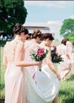 Chiffon Long Sage Bridesmaid Gown Double Straps Maxi Dresses