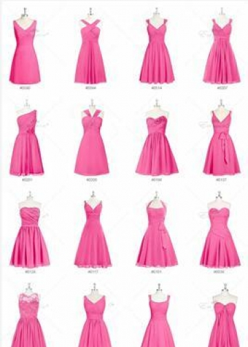 Chiffon Mismatched Bridesmaid Dress Short Wedding Party Gowns