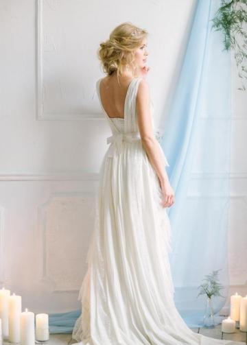 Chiffon and Lace Beach Wedding Dresses 2020