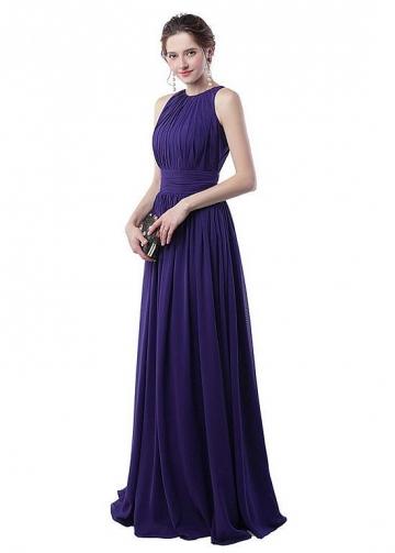 Fascinating Chiffon Jewel Neckline A-line Evening Dresses