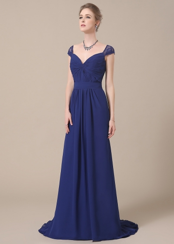 Elegant Chiffon V-neck Neckline Full-length A-line Bridesmaid Dresses