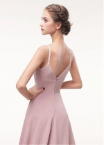 Fashionable Spaghetti Straps Neckline A-line Evening Dress
