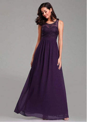 Fascinating Jewel Neckline A-line Bridesmaid Dresses