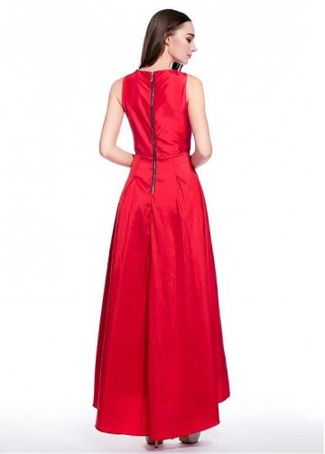 Graceful Taffeta Bateau Neckline Hi-lo A-line Homecoming Dresses