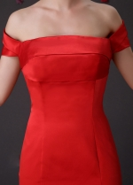 Chic Satin Off-The-Shoulder Neckline Mermaid Formal Dresses