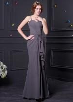 Elegant Chiffon Spaghetti Straps Neckline Mermaid Bridesmaid Dress