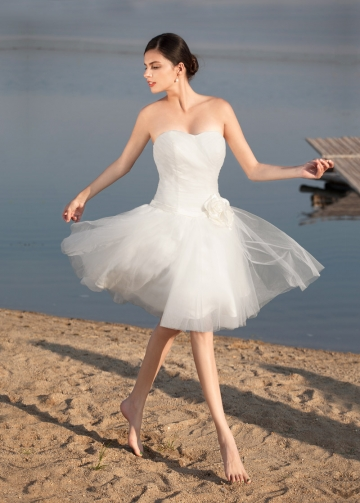 Sweet Tulle Sweetheart Neckline Short A-line Wedding Dresses