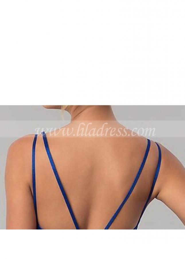 Deep V-neck Chiffon Short Bridesmaid Dress Under $100