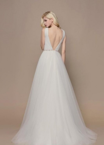 Dreamed Tulle Bridal Dresses with Jewelry Belt