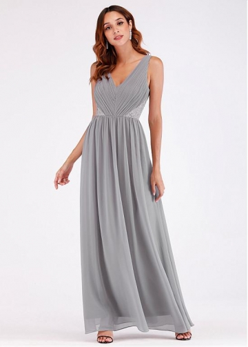 Fabulous V-neck Neckline A-line Evening Dresses