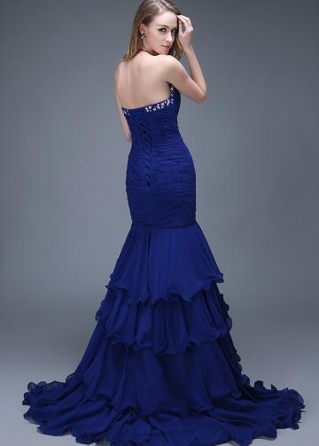 Elegant Chiffon Sweetheart Neckline Full-length Mermaid Evening Dresses