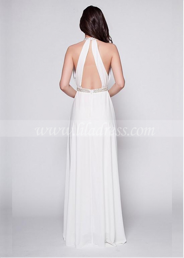 Fabulous Chiffon High-Collar Neckline A-Line Formal Dress