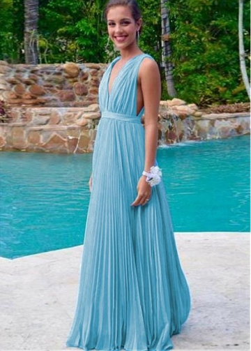 Delicate Chiffon & Tulle V-neck Neckline A-line Bridesmaid Dresses With Belt