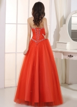 Amazing Tulle & Satin Sweetheart Neckline A-Line Prom Dresses