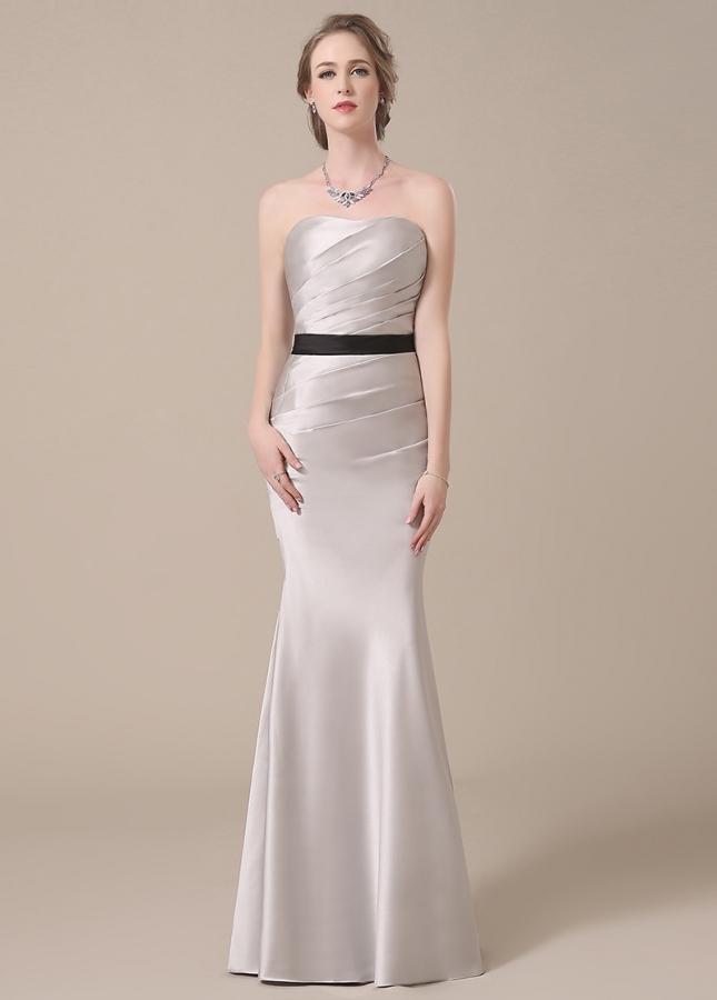 Elegant Satin Sweetheart Neckline Mermaid Bridesmaid Dresses