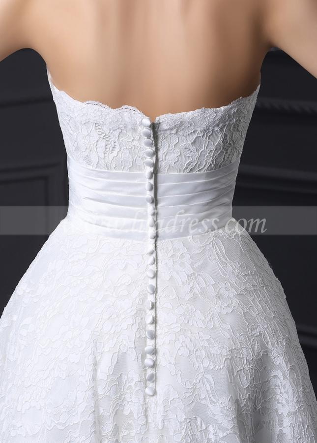 Glamorous Lace Sweetheart Neckline Ankle-length A-line Wedding Dress