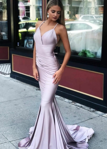 Elegant Mermaid Evening Dresses with Ruching Details