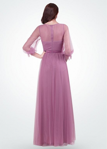 Glamorous Jewel Neckline A-line Evening Dresses