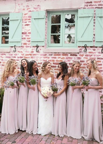 Charming Chiffon Sweetheart Neckline A-line Bridesmaid Dresses