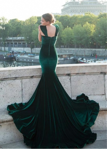 Splendid Fleece Sweetheart Neckline Floor-length Mermaid Evening Dress