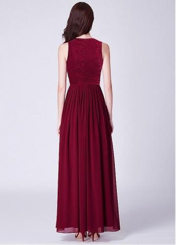 Glamorous Jewel Neckline A-line Bridesmaid Dresses