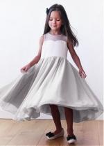 Pretty Chiffon Jewel Neckline A-line Flower Girl Dresses