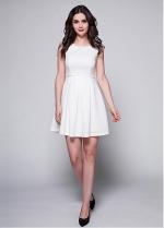Graceful Satin Jewel Neckline A-line Homecoming Dress