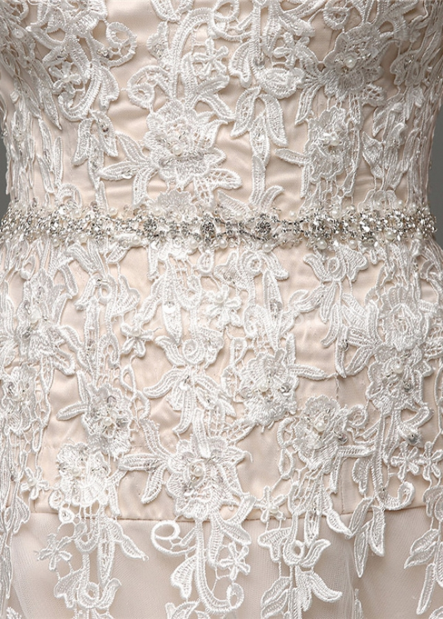 Amazing Tulle Sweetheart Neckline A-Line Wedding Dresses With Lace Appliques