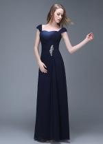 Elegant Chiffon Sweetheart Neckline Full-length Sheath Prom Dresses