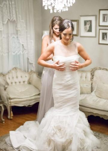 Illusion Neckline Ruffles Organza Wedding Dress Mermaid vestido de noiva sereia
