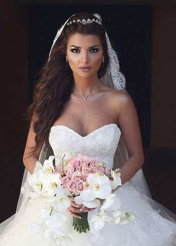 Lace Corset Wedding Dress for Bride Tulle Skirt vestido de novia