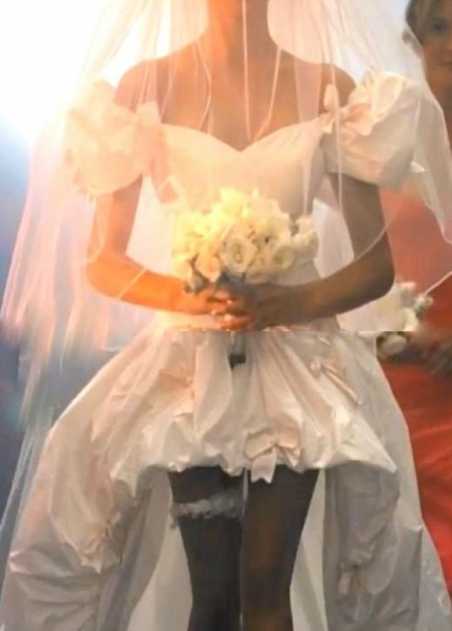 November Rain Princess High-low Wedding Dress with Pick-ups