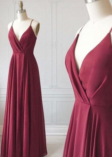 Ruched Chiffon Long Bridesmaid Gown for Adults