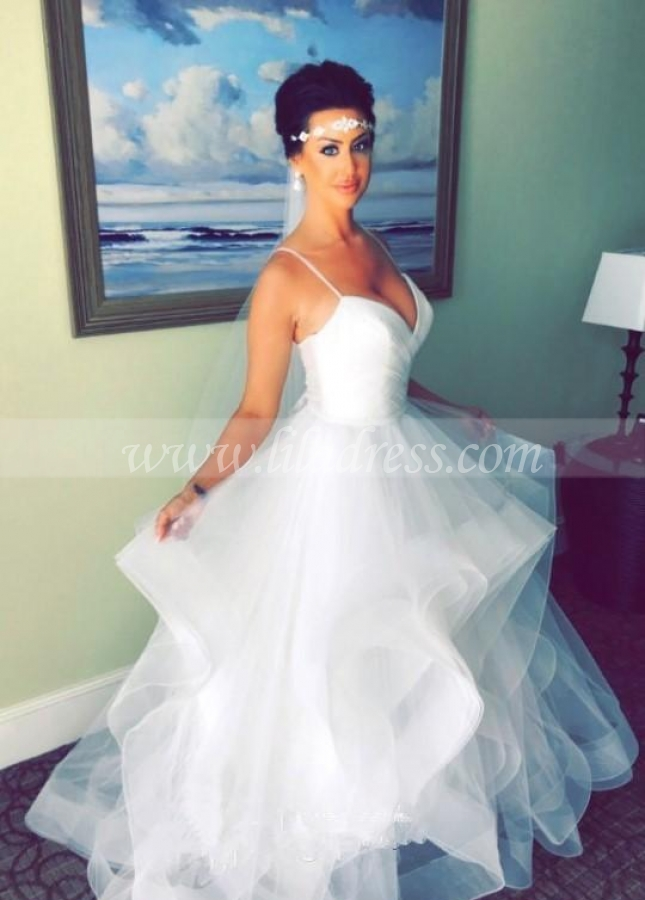 Refined Backless Bridal Dresses Wedding Tulle Horsehair Skirt