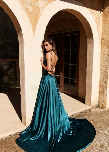 Royal Blue Prom Dresses with Long Side Slit