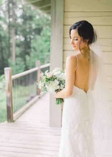 Spaghetti Straps Sheath 2018 Bridal Gown Lace vestido novia