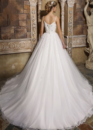 Sweet Beaded Appliqued Tulle Princess Ball Gown Dress