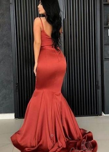 Square Neckline Mermaid Prom Dress with Double Straps