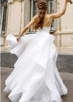 Sweet Girl Wedding Dresses Lace Bodice Horsehair Trim Skirt